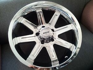 18 Jeep Wrangler Jk Wheel Rim Set New Mkw 18x9 Chrome Finish 5x5 5x127