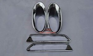 Chrome F rear Fog Light Lamp Cover Trims For Honda Crv 2010 2011 Except Diesel