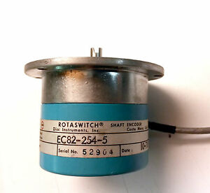 Disc Instruments Rotaswitch Shaft Encoder Ec 82 254 5 Used Ec82 254 5 Lot Of 1