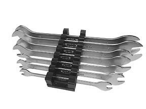 New Vim 7pc Metric Flat Extra Thin Wrench Set 6 19mm With Holder mfw100