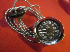 Jaeger Dual Oil And Water Gauge Mga Austin Healey 3000 100 6