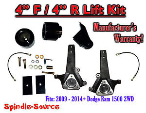 2009 2018 Dodge Ram 1500 4 Inch Lift Kit 2wd Only Hemi Non Hemi V6 V8