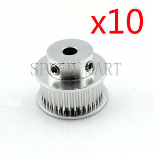 10 Pcs Gt2 Aluminum Timing Belt Pulleys 36t 10mm Width 6mm Bore For 3d Printer