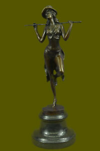 Broadway Dancer Nude Showgirl Chorusline Bronze Marble Statue Theater Artwork
