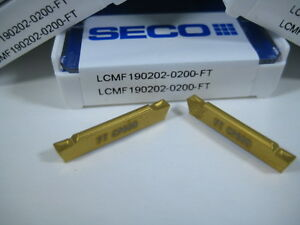 Lot 5 Seco Lcmf190202 Parting Cut Off Lathe Turning Carbide Inserts Tools