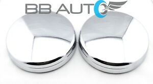 Front Wheel Chrome Center Hub Caps Pair For 2003 2017 Dodge Ram 3500 1ton Dually
