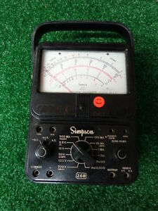 Simpson Model 260 Volt Ohm Milliamp Meter With Carrying Case Vintage A 02