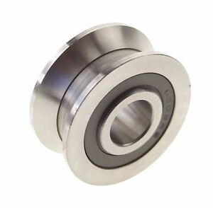 6 30 8mm V Groove Width 5 5mm Guide Pulley Sealed Rail Ball Bearings