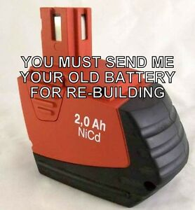 Rebuild Service For Hilti Sfb 150 Battery Item No 00340890