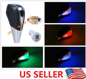 Touch Motion Activated Multi Led Light Car Universal Shifter Gear Shift Knob
