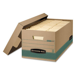 Stor file Extra Strength Storage Box Letter Lift off Lid Kft green 12 carton