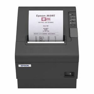 Epson Tm t88iv Thermal Receipt Printer serial rs232 M129h With Power Supply