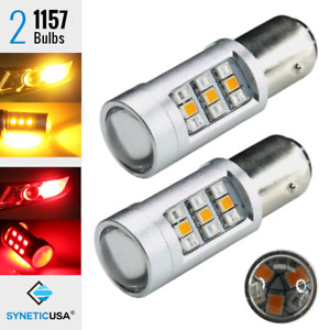 1157 Dual Color Switchback Red amber 33 led Drl Turn Signal Parking Light Bulbs