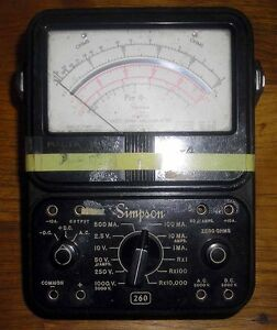 Simpson 260 Vintage Volt Ohm Meter Vom Nys Atomic And Space Authority Malta Ny
