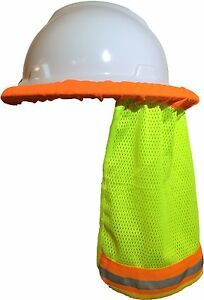 50 Pcs Safety Hard Hat Neck Shield Helmet Sun Shade Hi Vis Reflective Stripe Yl