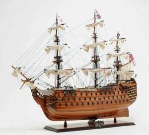 Hms Victory Admiral Nelsons Flagship Tall Ship 30 Wood Model Sailboat Assembled