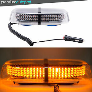 Yellow Amber Light Bar Roof Top Emergency Hazard Warning Flash Strobe 240 Led