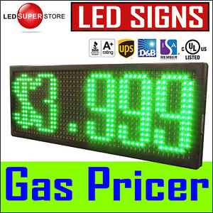 10 X 38 Super Led Gas Station Price Changer Electronic Fuel Digital Sign
