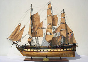 Uss Constitution Old Ironsides Tall Ship 59 Wood Model Sailboat Assembled