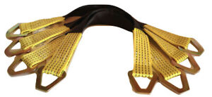 2 X 24 Axle Tow Strap With D Ring Car Strap Tie Down yellow 4 Pack