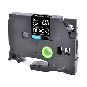 White On Black Label Tape Fit For Brother Tz 325 Tze 325 P touch 3 8 9mm 8m