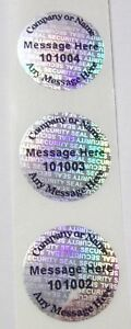 1000 Customized Ss 20 Mm Round Hologram Security Protection Label Sticker Seals