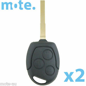 2 X To Suit Ford Focus mondeo falcon Remote Key Blank Replacement Shell case