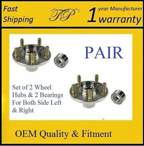 Front Wheel Hub Bearing Kit For Honda Civic Si Only 2006 2011 W Abs Pair