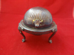 Silverplate Butter Dome With Glass Liner