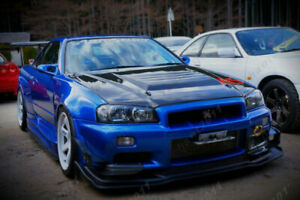 Carbon Kit For 99 02 Nissan Skyline R34 Gtr As Style Front Lip With Undertray