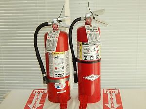 Fire Extinguisher 10lb Abc Dry Chemical Lot Of 2 scratch dent