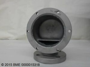 Flanged Stainless Steel Fitting 1 1 2 Bore With 4 Bolt Flange