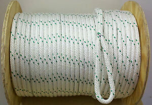 1 2 X 300 Ft Double Braided Polyester Cable Pulling Rope Made Usa new