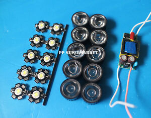 10x 3w Plant Grow Full Spectrum 380 840nm High Power Led Lens 6 10x3w Driver