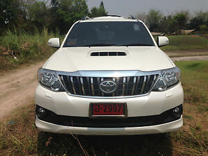 Chrome Black Front Grille Grill Prado Fit Toyota Fortuner 4x2 4x4 2011 2015