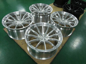 19x9 5 Et20 Bc Rs43 In Brushed Finish Lightweigh Monoblock Forged Fit Audi A5 S5