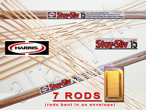 7 Sticks 7 Rods Harris Stay silv 15 Silver Soldering Rods Bcup 5
