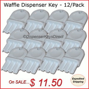 Universal waffle Key For Paper Towel Toilet Tissue Dispensers 12 pk
