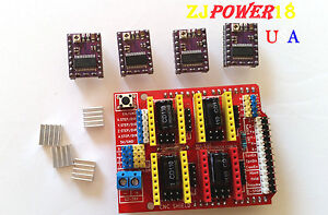 Cnc Shield V3 Expansion Board 4pcs Stepstick Drv8825 Stepper For Arduino