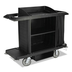 Rubbermaid Commercial Products C full Size Cart W vinyl Bag Black 1
