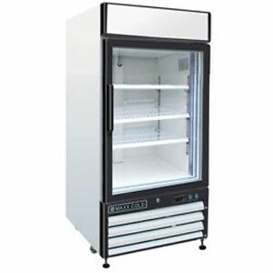 Maxx Cold Mxm1 12r Reach In Cooler Single Glass Door Refrigerator Merchandiser