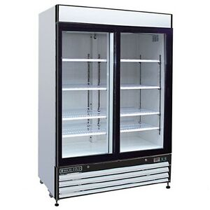 Maxx Cold Mxm2 48f Reach In Freezer Two 2 Double Glass Door Merchandiser