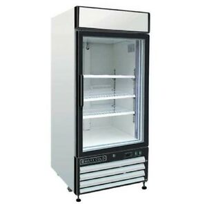 Maxx Cold Mxm1 16r Reach In Cooler Single Glass Door Refrigerator Merchandiser