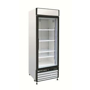 Maxx Cold Mxm1 23r Reach In Cooler Single Glass Door Refrigerator Merchandiser