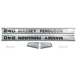 Massey ferguson Mf 240 Mf240 Tractor Basic Hood Decal Set
