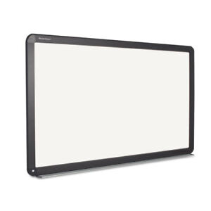 Interactive Magnetic Dry Erase Board 90 X 52 7 10 X 4 1 5 White black Frame