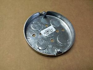 100 Pc Lot 4 Round Pancake Electrical Box 1 2 Ko s raco 293 Ceiling Fixture