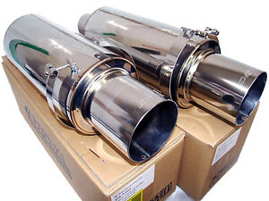2x Apexi N1 Evolution R Universal Exhaust Mufflers Turbo 3 Inlet 4 5 Tip