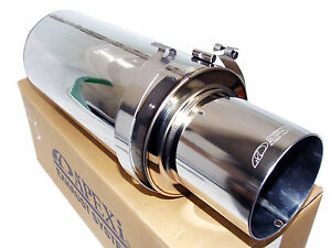 Apexi N1 Evolution R Universal Exhaust Muffler Turbo 3 5 Inlet 4 5 Tip