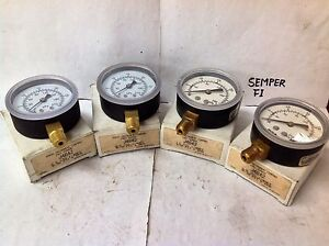 Marsh J4642 Pressure Gauge 30 Psi 1 4 Npt Nos lot Of 4 Nib nos